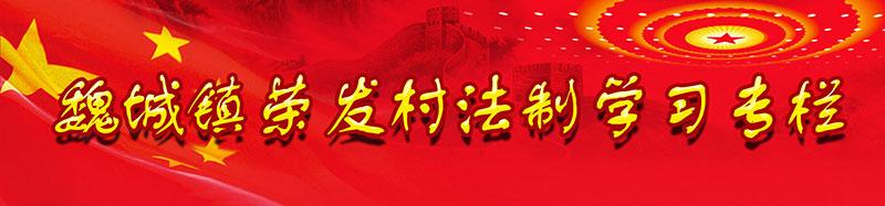 魏城镇荣发村法制学习专栏---荣发村 第2张